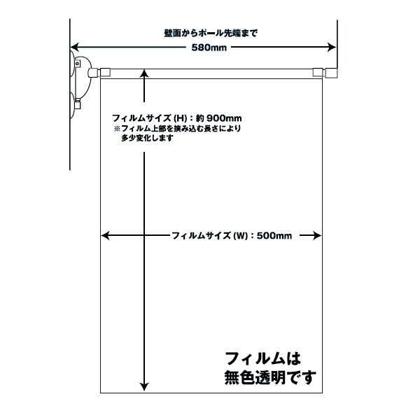 飛沫サイドブロッカー フィルム:W900×H900mm 0.2mm厚 5台