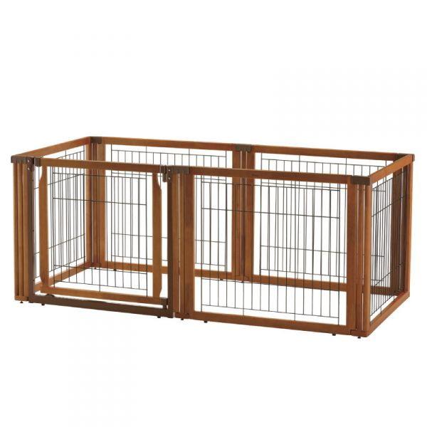 リッチェル ペット用 木製3WAYサークル 6面70H 小型犬・中型犬用