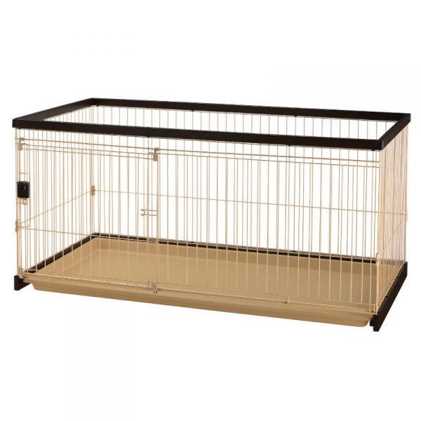 リッチェル 木製お掃除簡単 ペットサークル 超小型犬~中型犬用 150-80