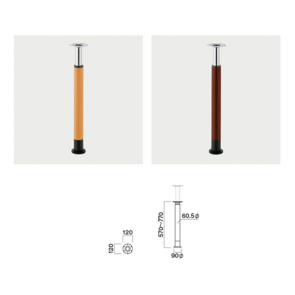 新着 メーカー直送 飲食店向け家具 椅子 クレス 施設用テーブルレッグ MA 4本セット