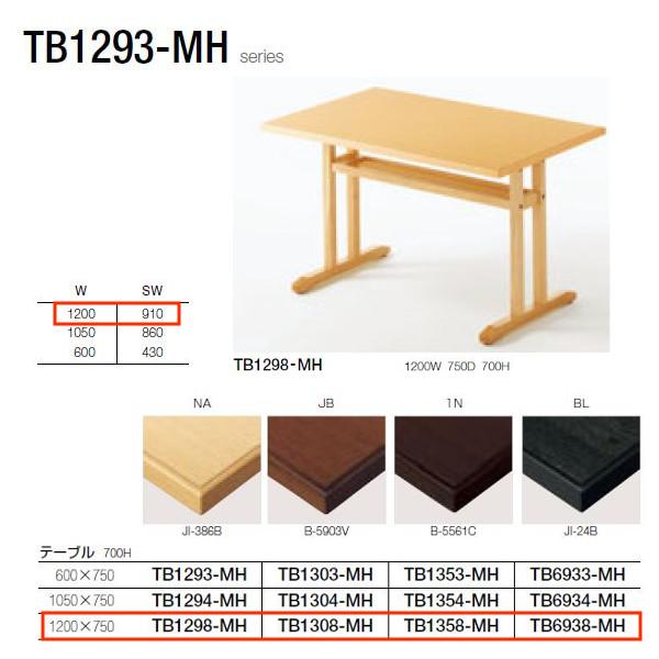 クレス TB1293-MHシリーズ テーブル W1200×D750×H700mm