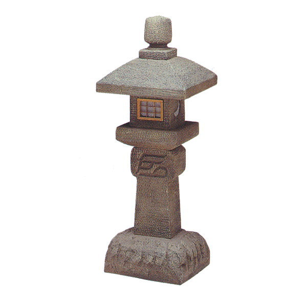 グローベン 織部燈籠台付2.5尺 A60CZ111S W300×H840×D300mm 約4.5kg FRP製