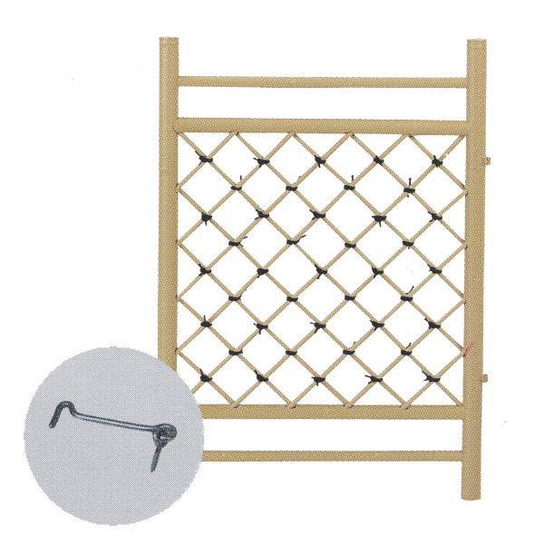 グローベン アルミ柱用枝折戸(取付金具・あおり止付) A60FE076 W700mm×H850mm