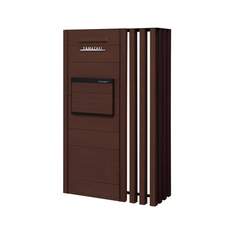 ウェルカムウォール 埋め込みポスト付 組み合わせセット 基本W900/連結W300 エバーブラウン 右勝手 KE1-WP74GR
