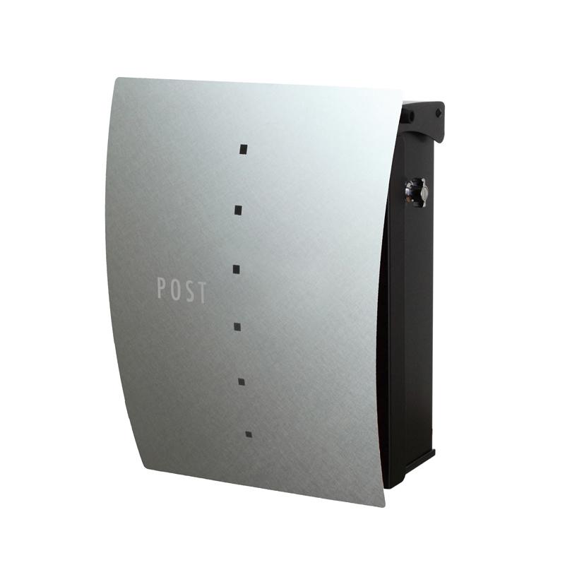 縦型ポスト ファン セイル Type02 壁掛けタイプ(T型カムロック付) パーマネントヘアライン NA1-FT02PH
