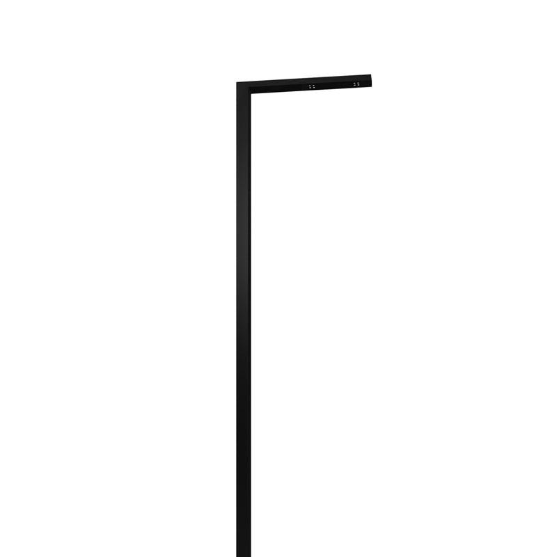 LEDポールライト アングル インターホン台座無し 照明色:電球色 グロスブラック NA1-LA05LGB