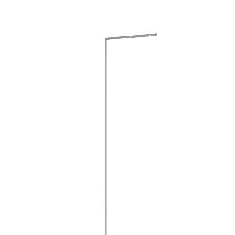LEDポールライト アングル インターホン台座無し 照明色:電球色 ホワイト NA1-LA05LWH