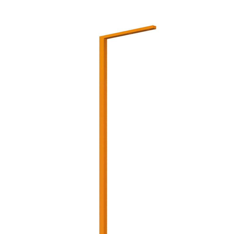 LEDポールライト アングル インターホン台座無し 照明色:白色 オレンジ NA1-LA05WOR