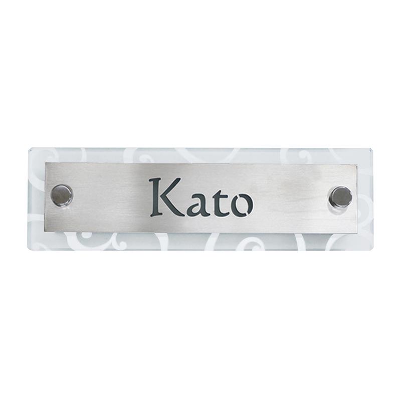 Tailer(テイラー) 表札 N102 抜き文字/ステンレスヘアライン LEDタイプ NL1-N102SU-L