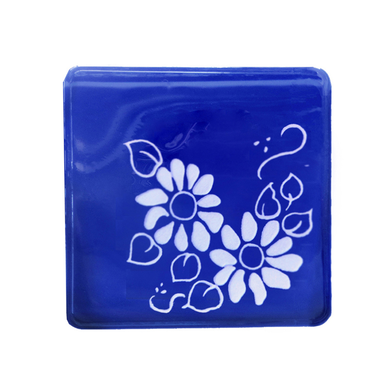 ベネチアンガラスサイン デザインハーフ デイジー ブルー TD1-VGD2B