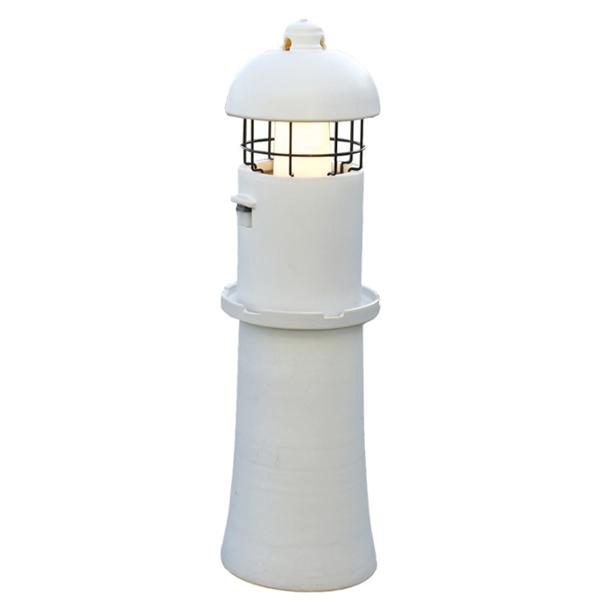 オンリーワンクラブ スタンドライト 新 信楽のあかり お庭の灯台 白 GA1-LED90