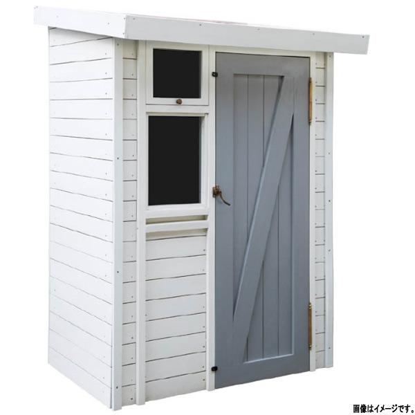 収納庫 ガーデン収納庫1207 塗装 JB3-34292 本体/ホワイト ドア/グレー