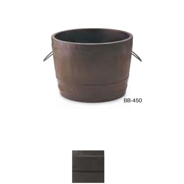 トーシン プランター ビヤ樽 ポルカ BB-450 GRC 穴あり 直径450×H300mm