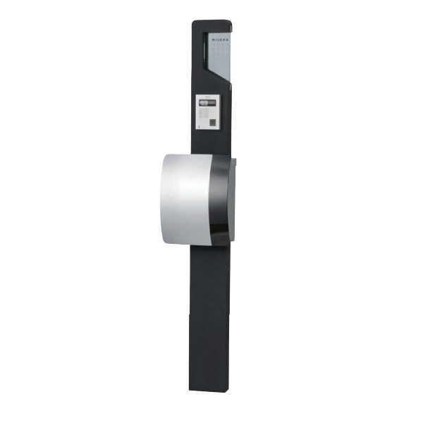 トーシン ネオスティック170 LED・ガラス表札付 ブラック EP-ST170NEO3-BK 門柱、ポストセット