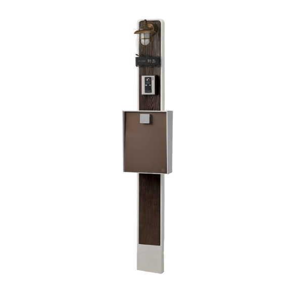 トーシン ウッドスティック170 焼杉 ホワイト EP-ST170WDY-WH 門柱、照明、表札、ポストセット