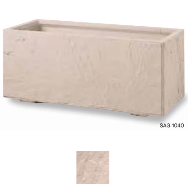 トーシン プランター インド砂岩 K型 底面給水タンクプラスウォーター SAG-1040 GRC 穴あり W1010×D410×H420mm