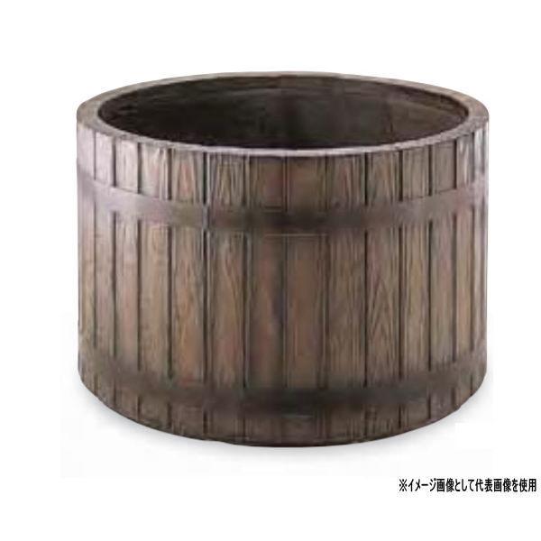 トーシン プランター ウッディ WM-600 GRC 穴あり 直径600×H450mm