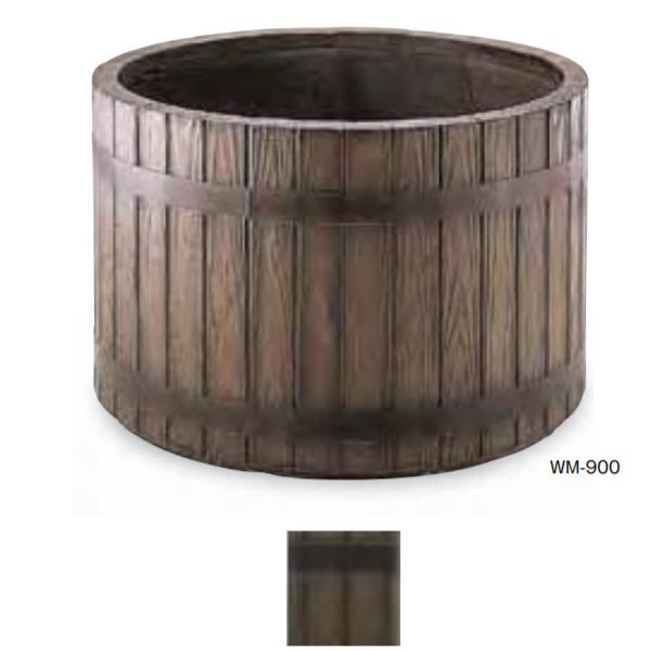 トーシン プランター ウッディ WM-900 GRC 穴あり 直径900×H580mm