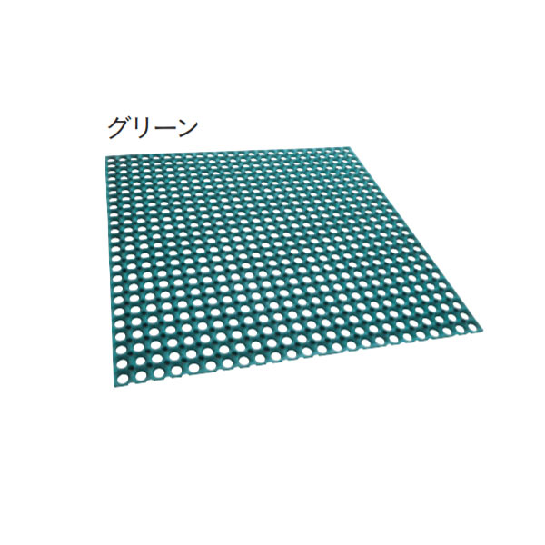 ユニソン ターフラバーマット 芝生保護マット グリーン TRM-G L1000×W1000×H15mm 1結束(3枚)約3.0平米
