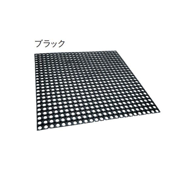 ユニソン ターフラバーマット 芝生保護マット ブラック TRM-K L1000×W1000×H15mm 1結束(3枚)約3.0平米