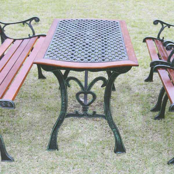ジャービス商事 CASTIRON FURNITURE CROSS TABLE 鋳鉄ファニチャー クロステーブル 鋳鉄/ハードウッド材 ブラウン 13015 1台