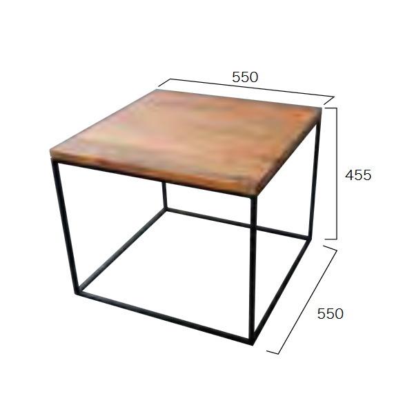 ジャービス商事 アイアンウッドキューブテーブル W550×H455×D550 34257