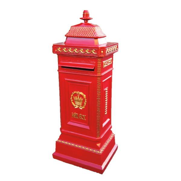 ジャービス商事 ヨーロピアンメイルボックス 赤 35001N