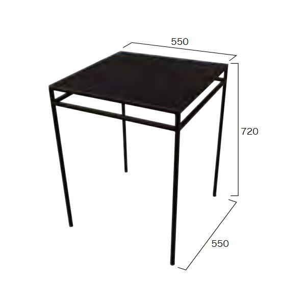ジャービス商事 アイアンスクエアテーブル55 W550×H720×D550 38680