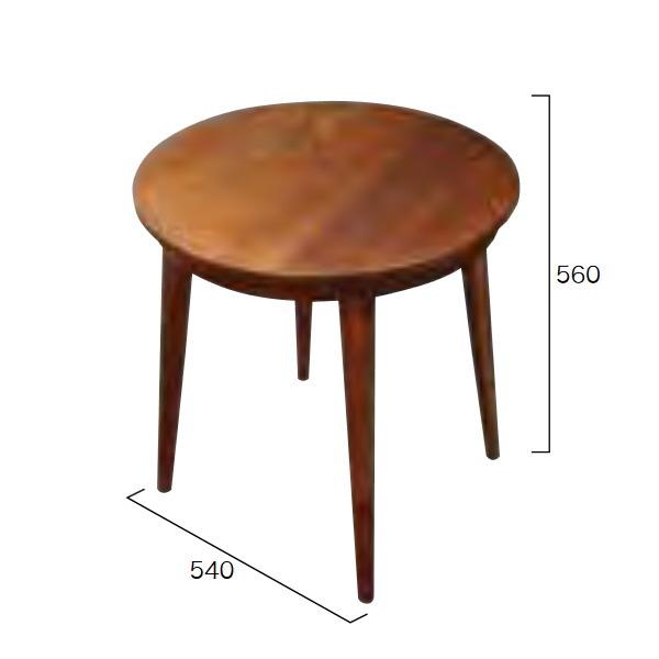 ジャービス商事 パイロットテーブル(塗装) φ540×H560 39308