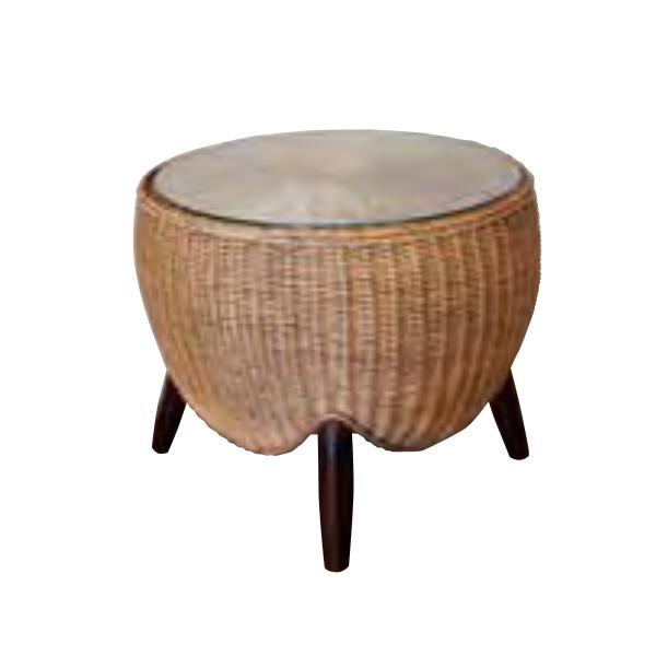 ジャービス商事 ロタンサイドテーブル φ560×H470 41602
