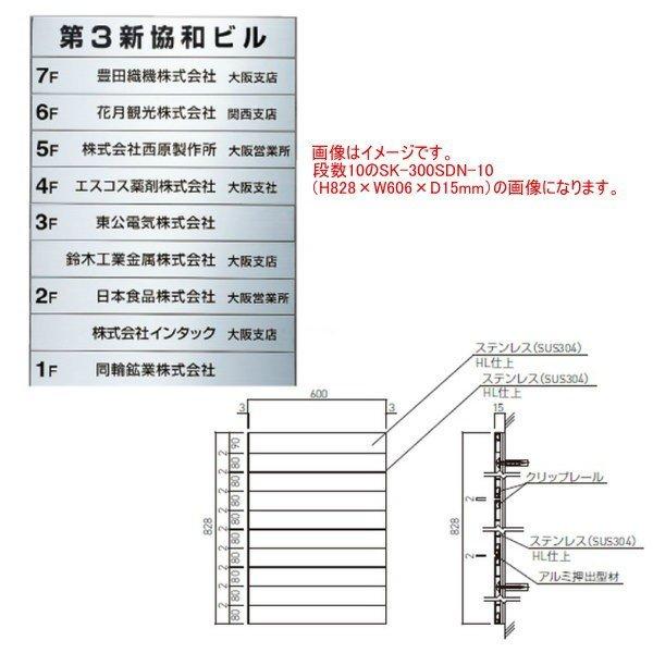 神栄ホームクリエイト テナント案内板 SK-300SDN-7 H582×W606×D15mm 段数7