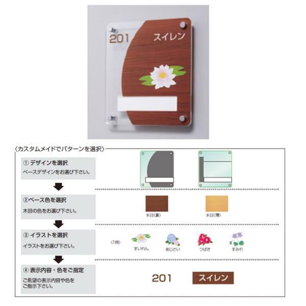神栄ホームクリエイト カスタム式室名札サイン 平付型・名札:スライド脱着式 イラスト入 SK-ACSC-2F H220×W200mm