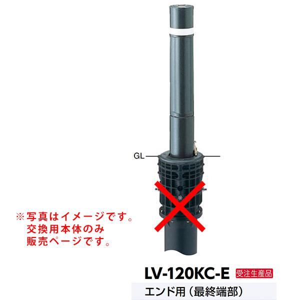 サンポール リフターボラード上下式車止め LV-120KC-E交換用本体 エンド用 最終端部