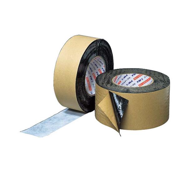 フクビ スーパーブチルテープN75S 片面タイプ FSBN75S 巾75mm×巻長20m×厚さ0.5mm 12巻入