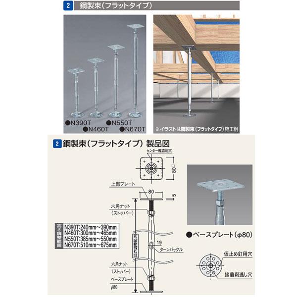 フクビ 木造住宅用樹脂製機能束 鋼製束(フラットタイプ) N670T NKT670T 20個入