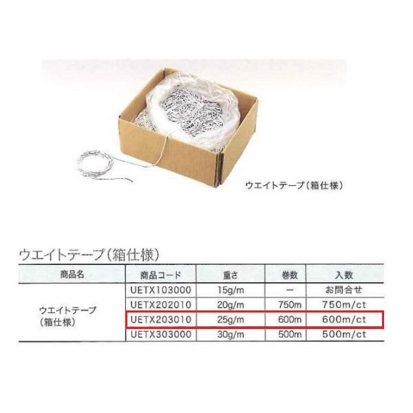 ユニテックパロマ ウェイトテープ 25g/m (1箱600m) UETX203010 600m