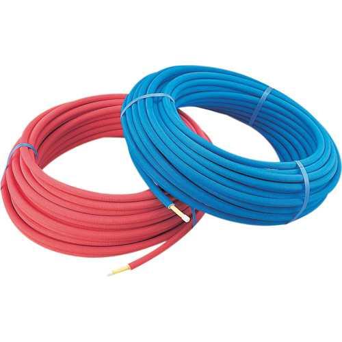 カクダイ 保温材つき架橋ポリエチレン管(赤) 20A 672-118-50R