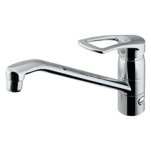 カクダイ シングルレバー混合栓(分水孔つき) 117-063-180