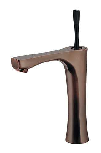 カクダイ シングルレバー混合栓(ミドル・ブロンズ) 183-233GN-BP