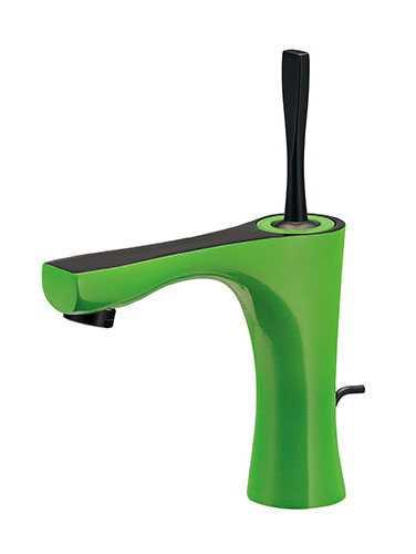 カクダイ シングルレバー混合栓(ライムグリーン) 183-230GN-GR
