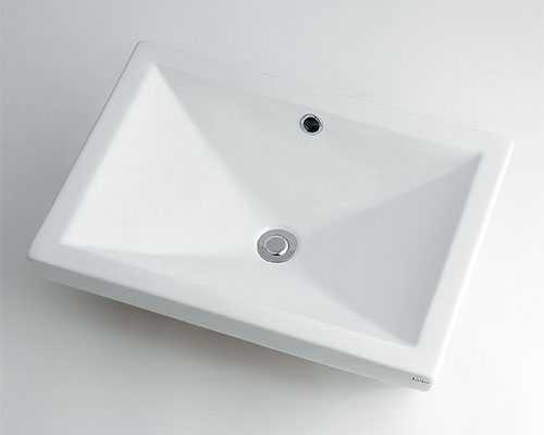 カクダイ 角型洗面器 493-002