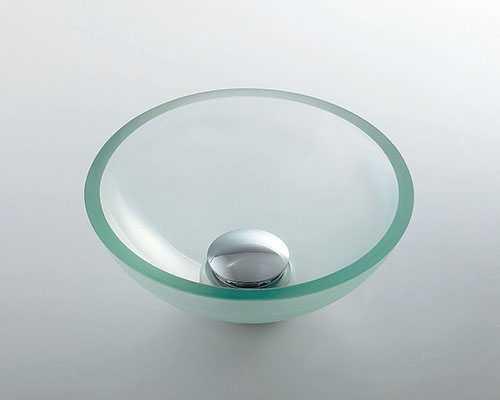 カクダイ ガラス丸型手洗器 493-028-C
