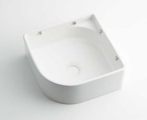 カクダイ 壁掛手洗器 ホワイト 493-048-W