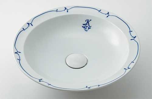 カクダイ 丸型洗面器 シルク 493-055-W