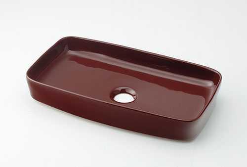 カクダイ 角型手洗器 ショコラ 493-073-BR
