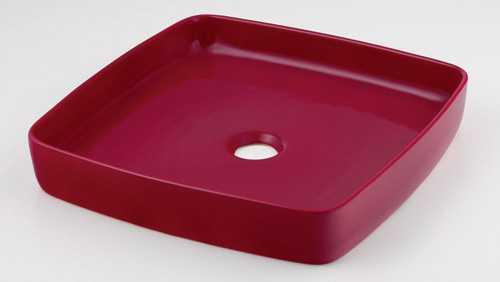 カクダイ 角型手洗器 ラズベリー 493-096-R