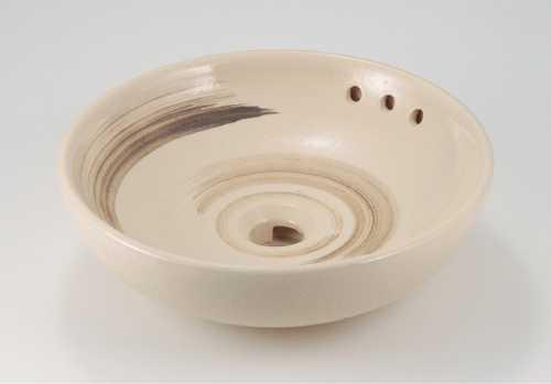 カクダイ 丸型手洗器 亜麻 493-165-CR