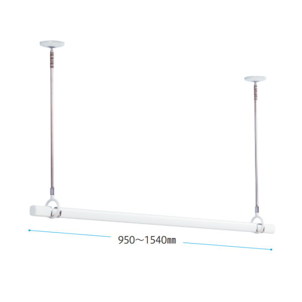 川口技研 ホスクリーン 室内用物干 竿もセット品 15サイズ QSC-15-W