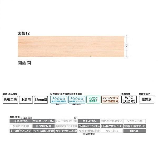 大建 フローリング フローリング WPCえんこう 宮檜12 デラックス 9枚 (3.75平米) 関西間用 YP0325-8