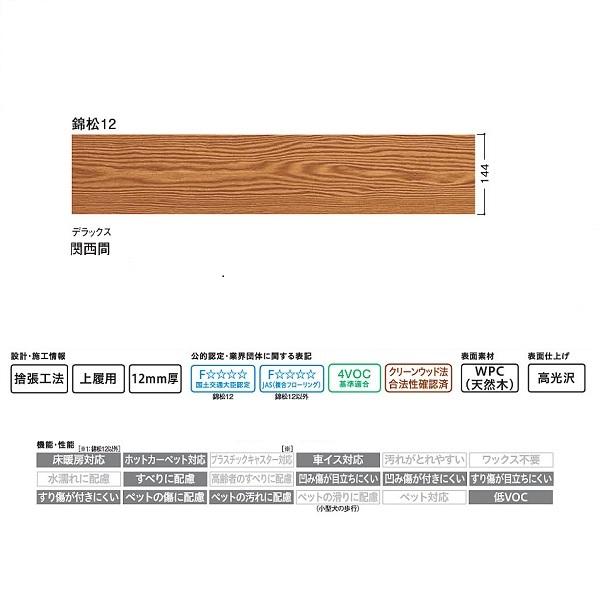 和風床材/WPC床材 大建 フローリング フローリング WPCえんこう 錦松12 デラックス 9枚 (3.75平米) 関西間用 YP0327-8